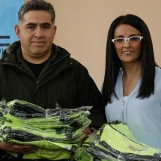 GAMEA realizó la entrega de ponchillos de seguridad dotados por la CBN a las brigadas de padres de familia