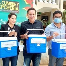 CBN continúa con su apoyo a la campaña de vacunación contra el COVID-19 con la donación de 30 conservadores de frío para vacunas al Sedes Beni