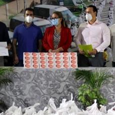 CBN dona 6 toneladas más de alimentos a las familias en situación vulnerable