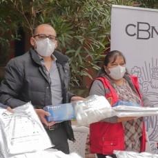 CBN donó a la ciudad de Sucre trajes de bioseguridad hechos en Bolivia