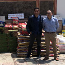 CBN apoya con 188 paquetes de alimentos  a los afectados en Tiquipaya