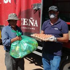 Entregamos 10 toneladas de alimentos a 570 familias de tres municipios