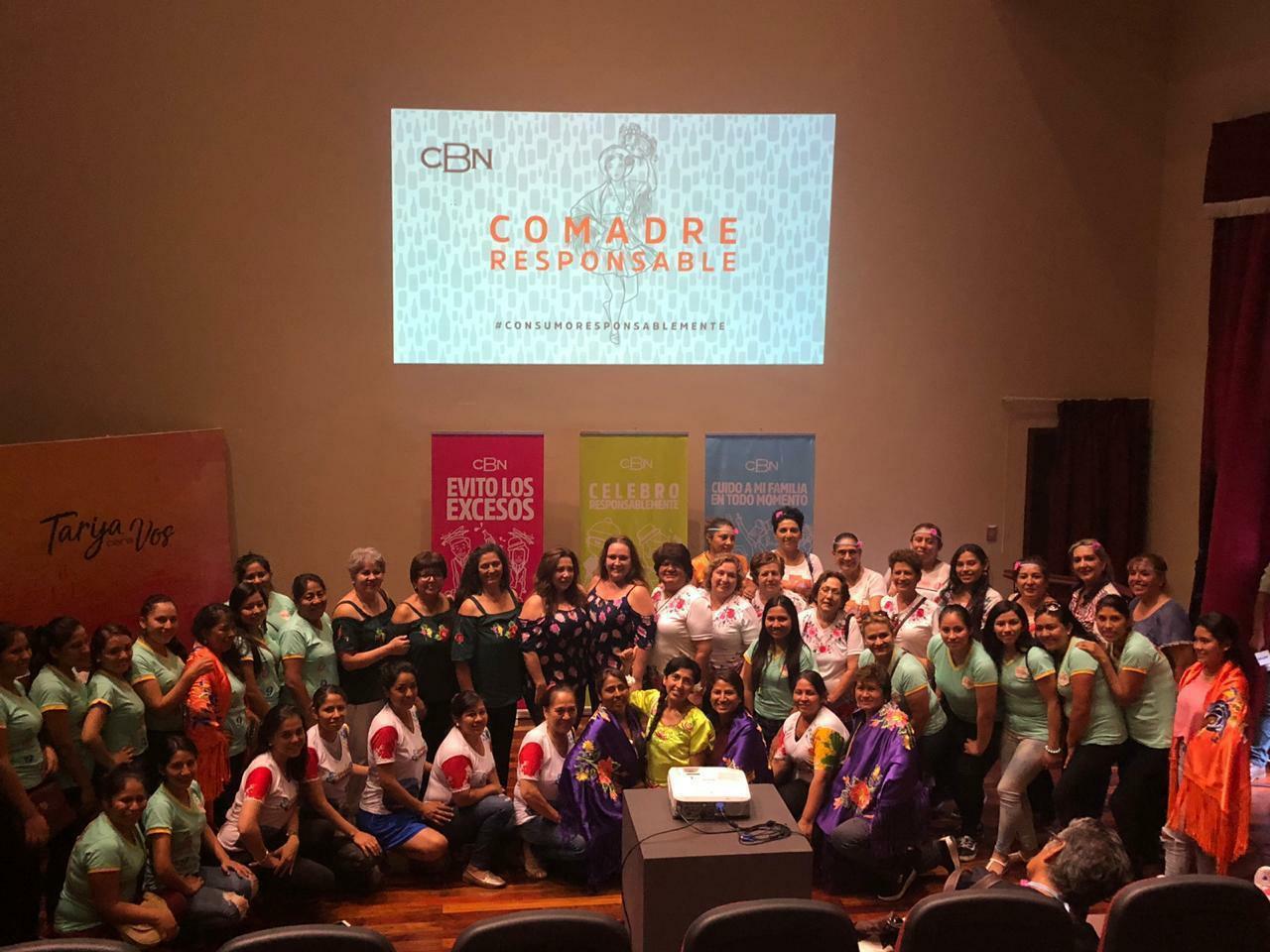 CBN llega a comadres Tarijeñas con el mensaje de consumo responsable