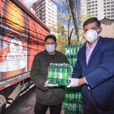 CBN entrega gaseosas y Maltín para 22 mil personas de la Policía Boliviana, Fuerzas Armadas y hogares de acogida