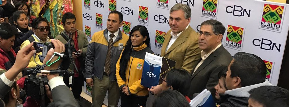 """CBN apoyará el Plan """"Ciudad Segura"""" de la Alcaldía de El Alto"""