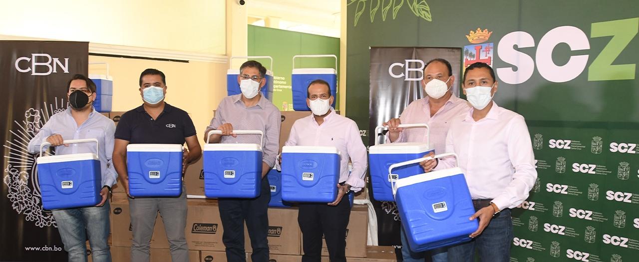 CBN continúa con su apoyo a la campaña de vacunación contra el COVID-19 con la donación de 440 conservadores para mantener la cadena de frío