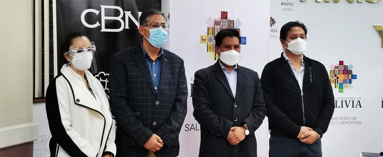 CBN dona dos plantas generadoras de oxígeno y llenado de tubos para Cochabamba y Cobija
