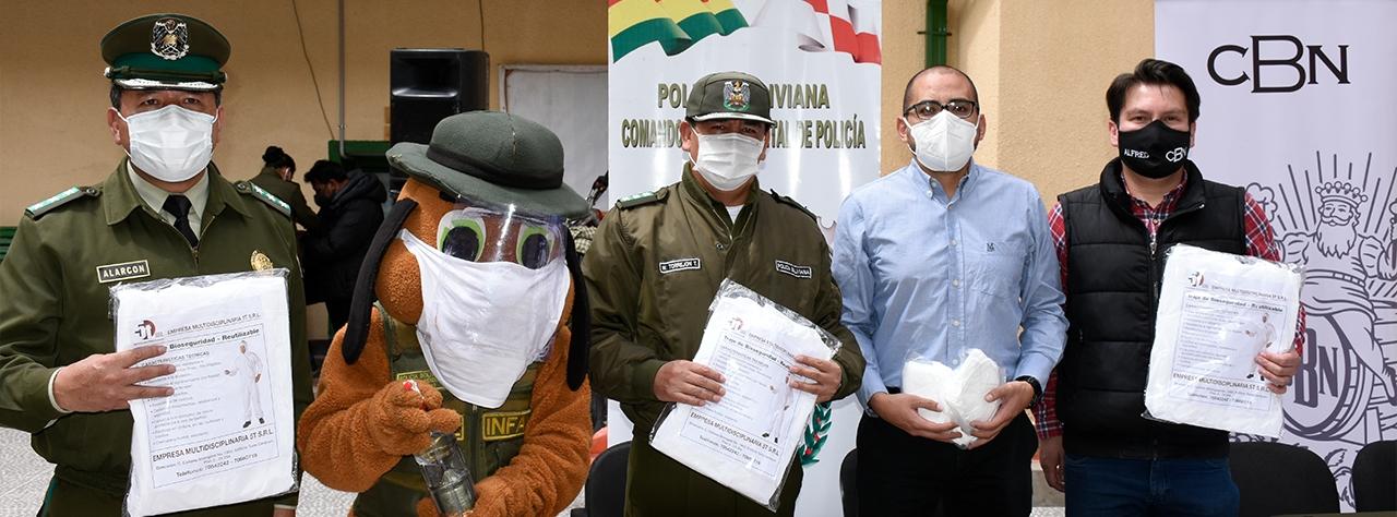 CBN donó al departamento de Potosí trajes de bioseguridad hechos en Bolivia
