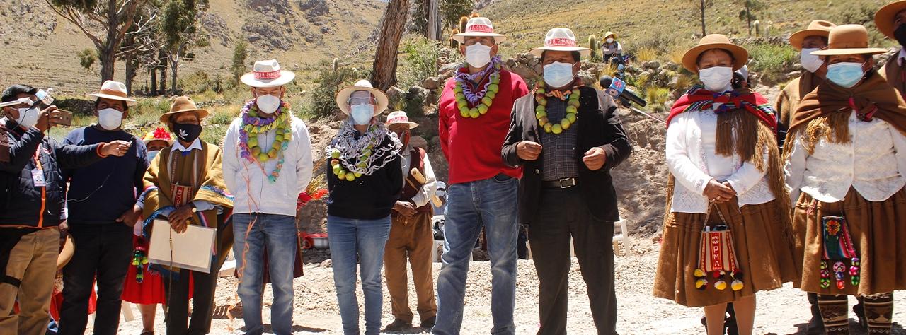 CBN entrega en la comunidad de Chahuara el tercer  estanque de agua para las comunidades de Huari