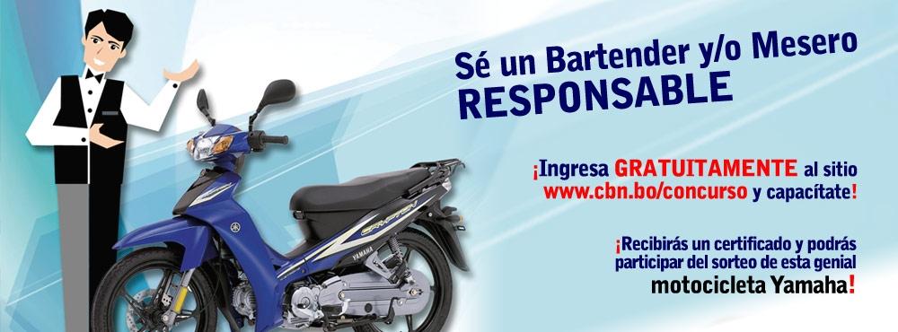 CBN premiará con una motocicleta a los bartenders  y/o meseros/as responsables