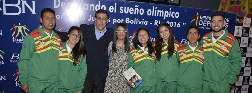 CBN reafirma su respaldo al deporte olímpico boliviano