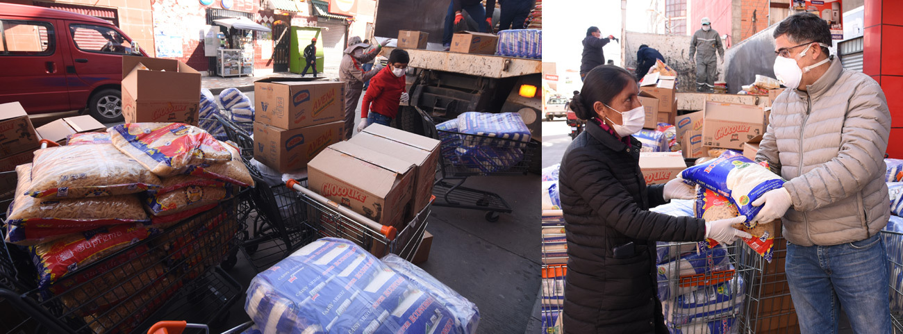CBN Entrega 10 toneladas de alimentos  a 570 familias de tres municipios