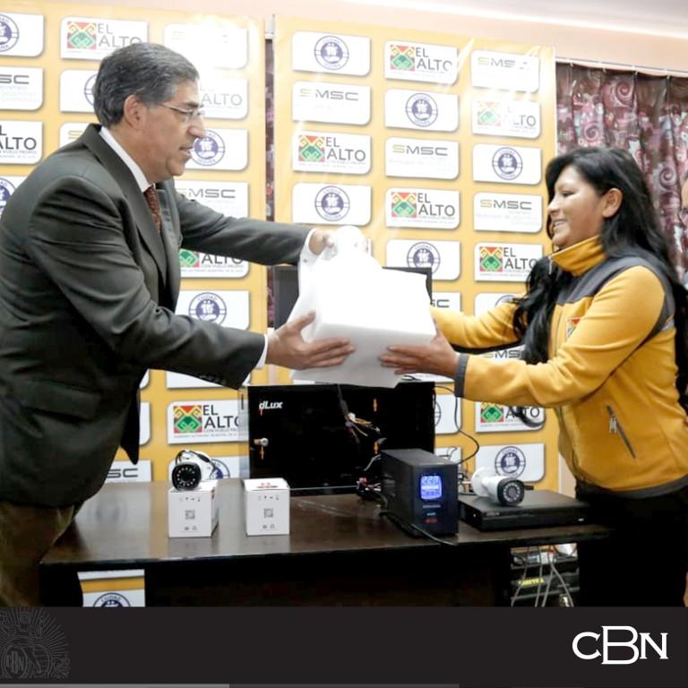 CBN entrega videocámaras de seguridad para  todas las unidades educativas de la ciudad de El Alto
