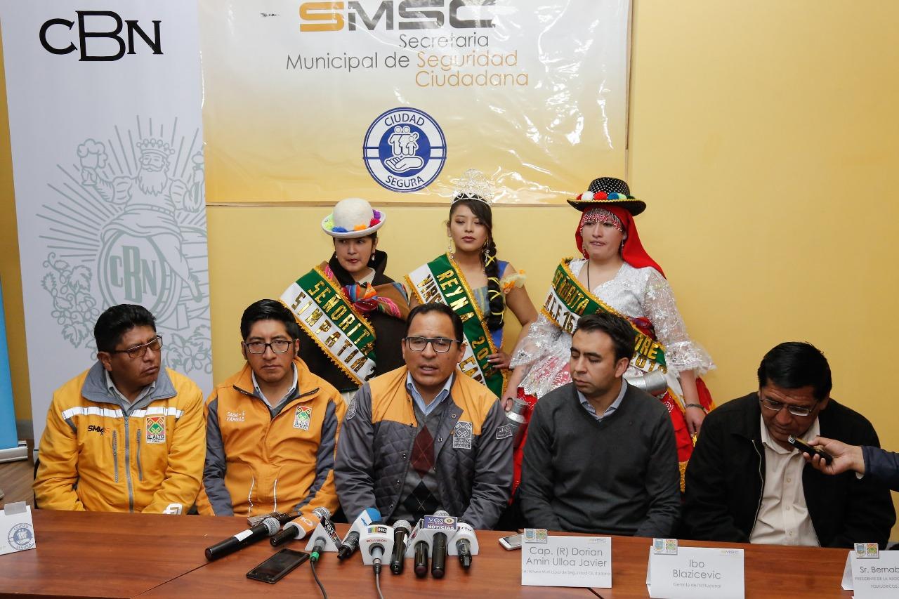 CBN y Alcaldía promueven que Entrada  16 de Julio sea segura y responsable