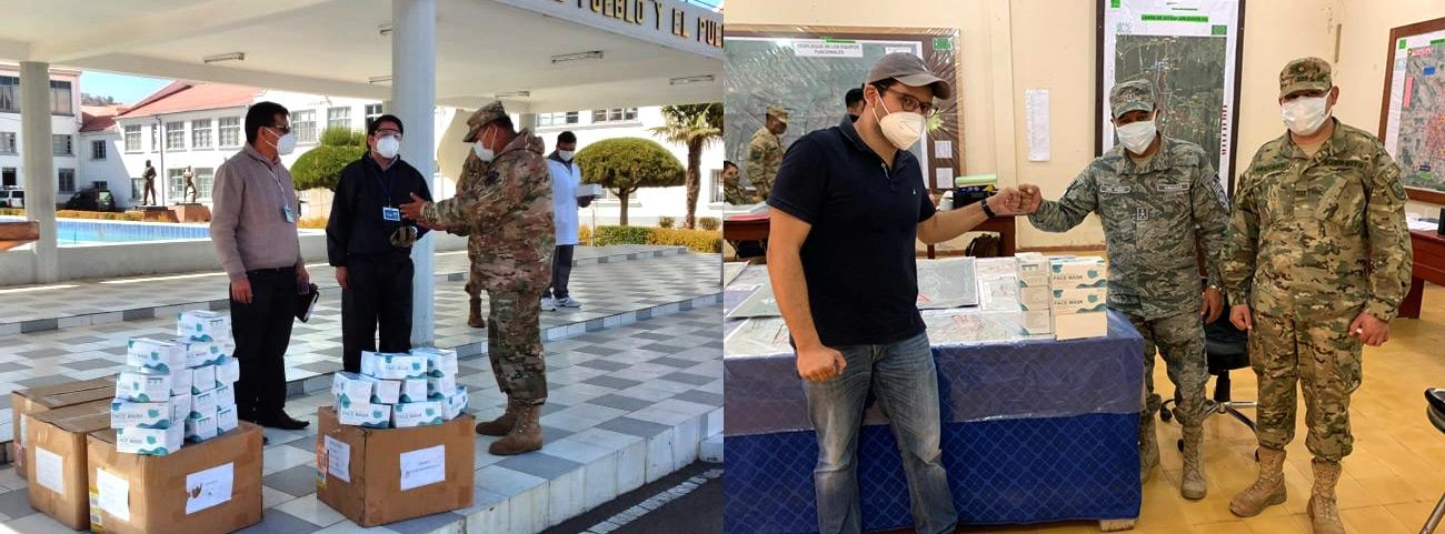 FF.AA. y Policía Boliviana reciben más de 60 mil barbijos de parte de la CBN