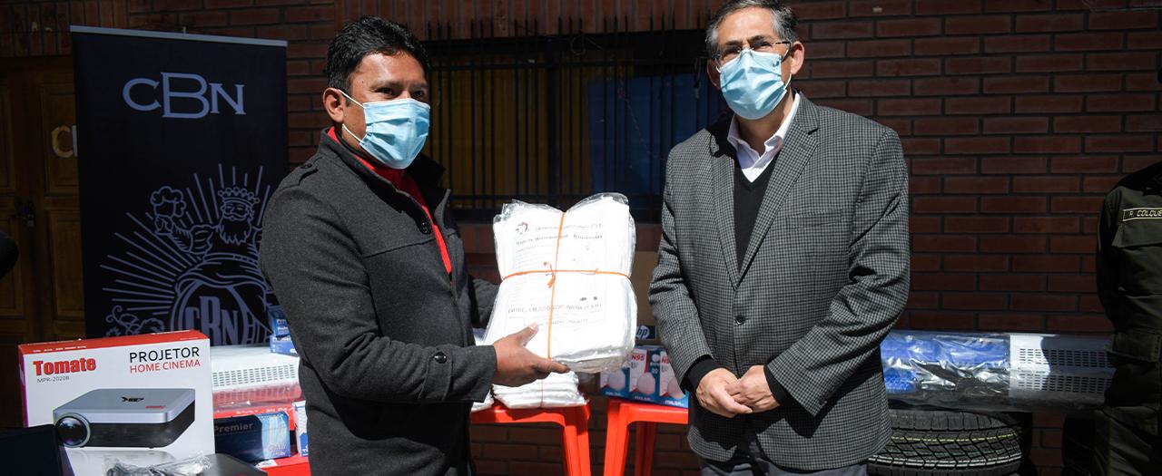 La CBN dona material para apoyar las tareas  de seguridad ciudadana de la FELCC de El Alto